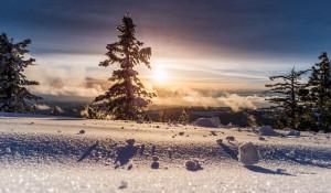 Зима в горах.