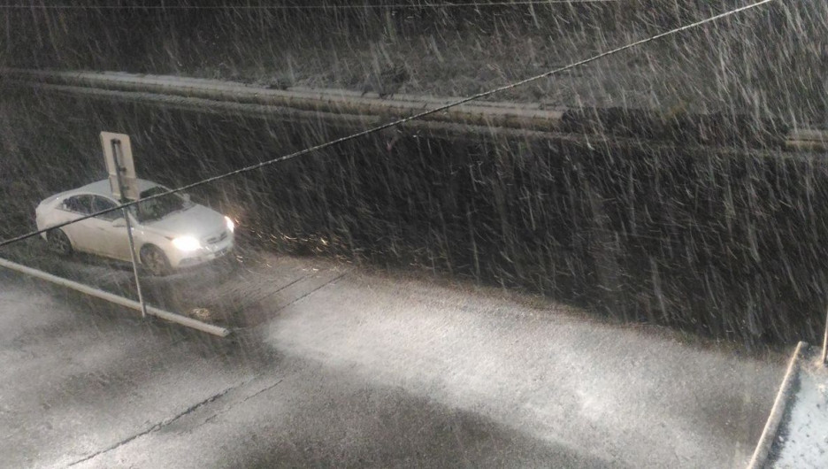 Снег в Алтайском крае