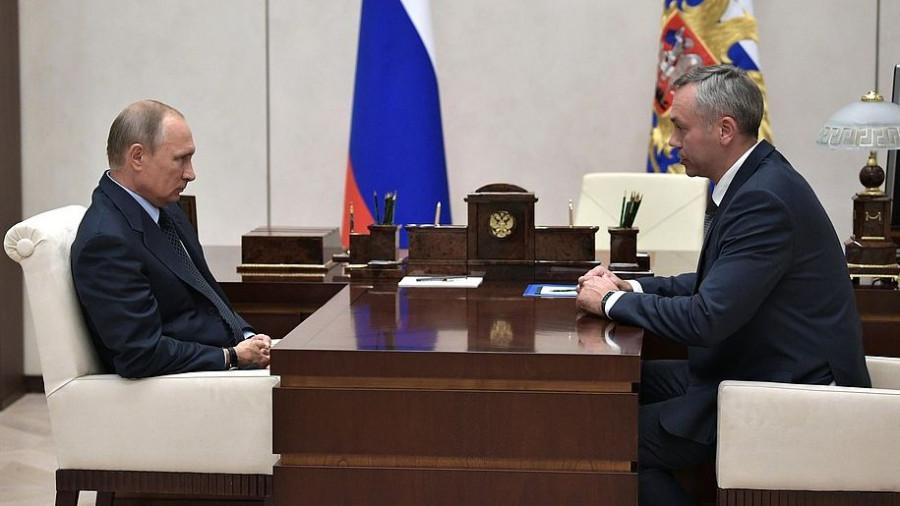 Владимир Путин и Андрей Травников.