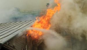 Тушение пожара.