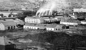 ХIХ век. Сереброплавильный завод, закрыт в 1893г., на его месте до 1941г. разместится лесопильный завод.