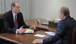 Василий Юрченко и Владимир Путин.