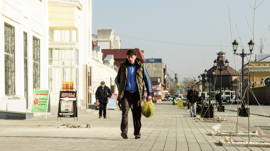 Пешеходная улица Барнаула.