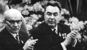 Леонид Брежнев и Владислав Гомулка.