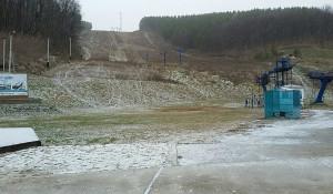 Снег в Белокурихе. 26 октября 2017 года.