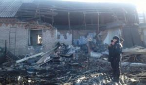 Место взрыва дома в Рубцовске.