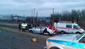 ДТП на выезде из Барнаула.