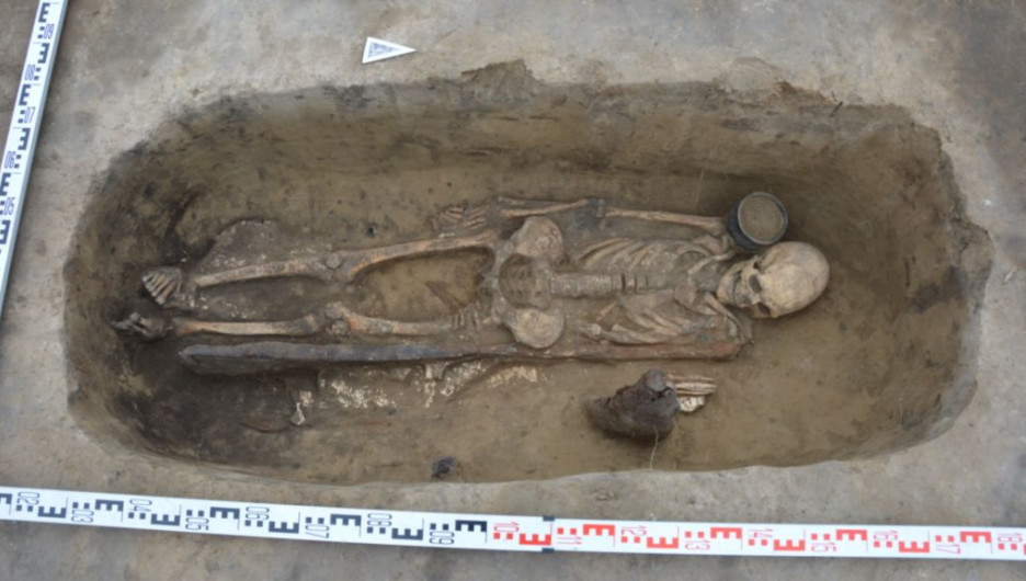Археологические раскопки на чумышском мысе.
