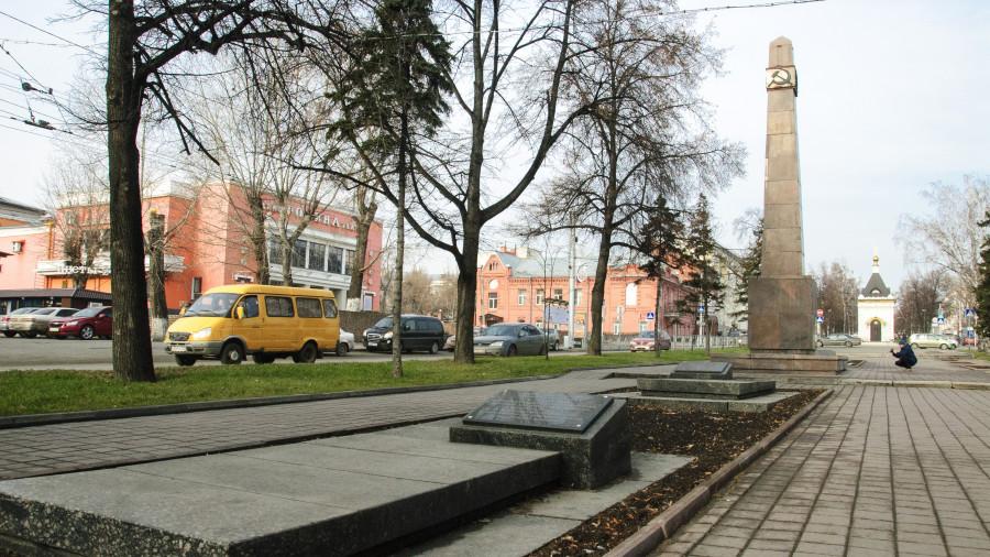 Мемориальный комплекс на проспекте Ленина в Барнауле.