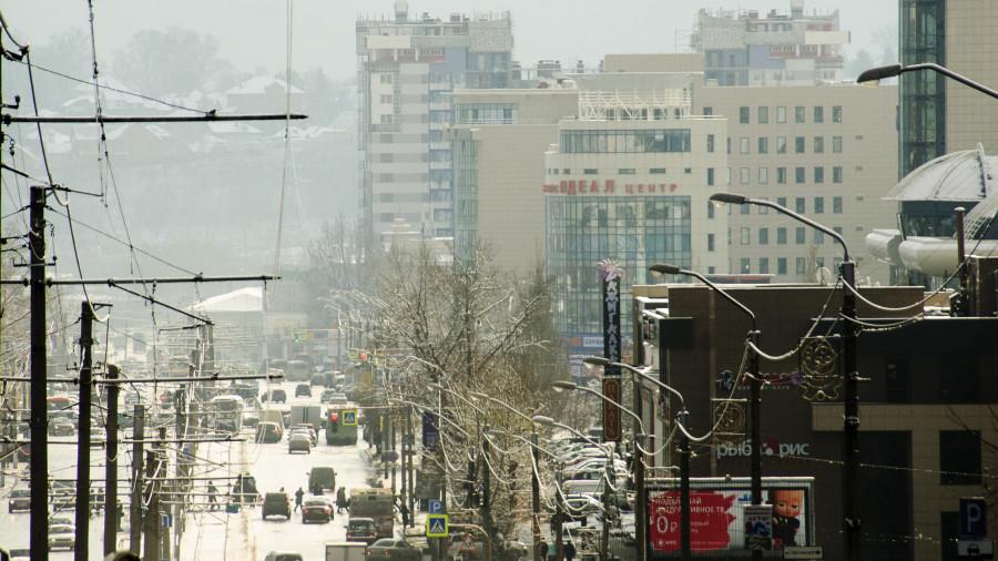 Барнаул. Панорама. Красноармейский проспект.
