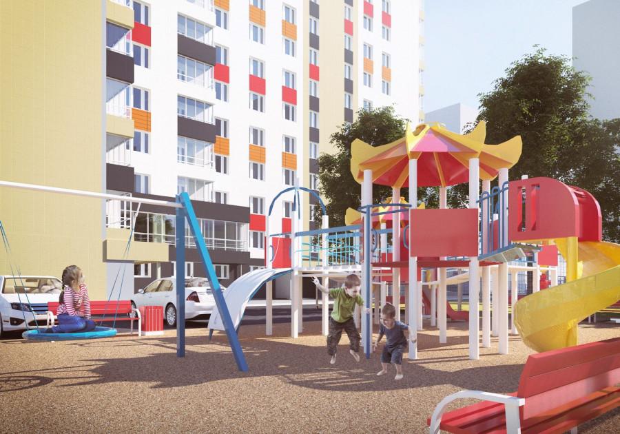 Детская площадка (визуализация).
