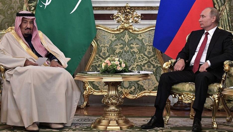 Владимир Путин и король Саудовской Аравии.