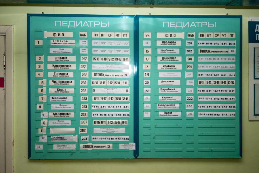 Детское отделение городской поликлиники №14.