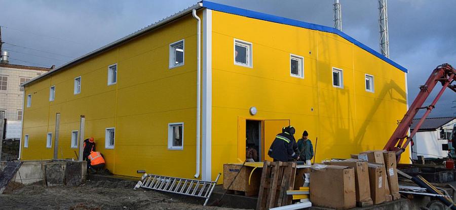 На строительстве очистных сооруженийповерхностного стока на ливневом коллекторе по проспектуЛенина.