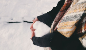 Зима, снег, девушка.