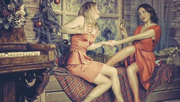 Платье. Девушки. Новый год