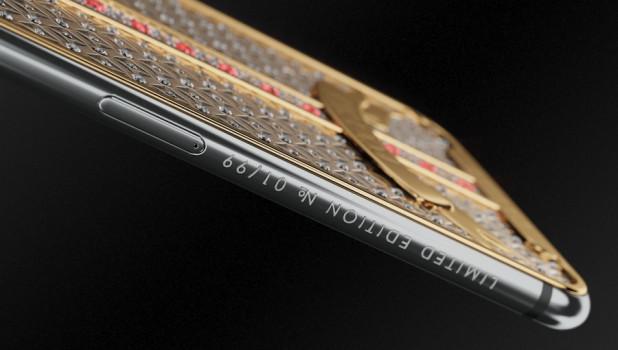 iPhone X, посвященные черной икре и императорской короне.