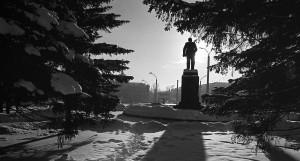 1999 год, площадь Октября в Барнауле.
