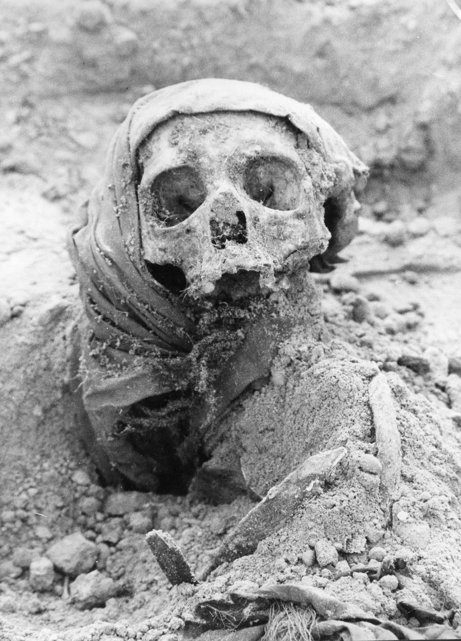 1999 год, в Барнауле на ВДНХ  раскопали останки.