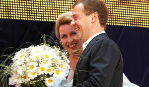Светлана и Дмитрий Медведевы.