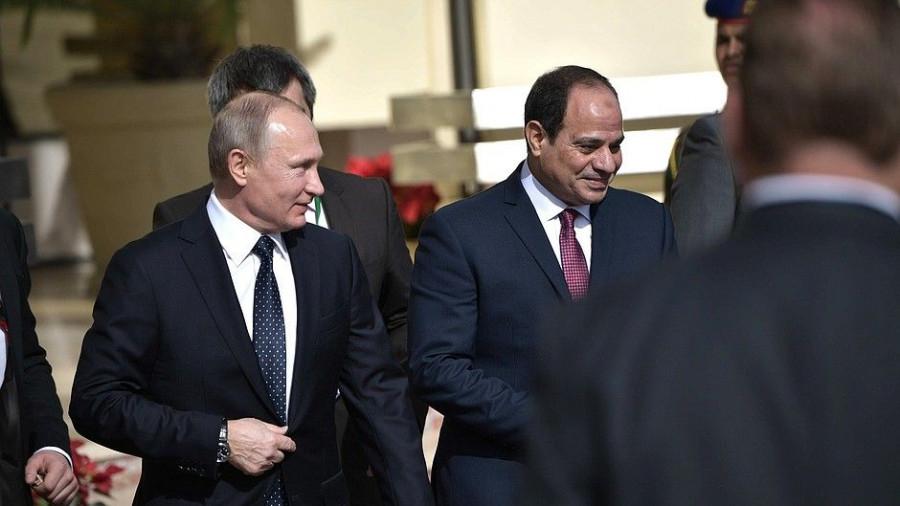 Переговоры Владимира Путина с президентом Египта Абдельфаттахом Сиси.
