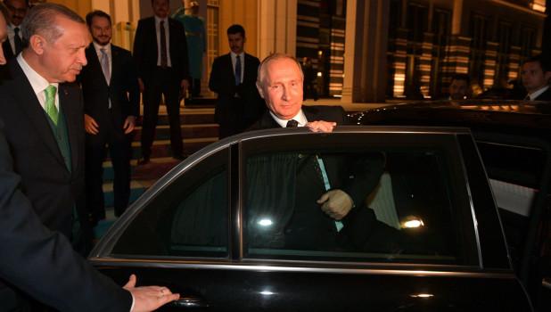 Переговоры Владимира Путина с Реджепом Тайипом Эрдоганом.