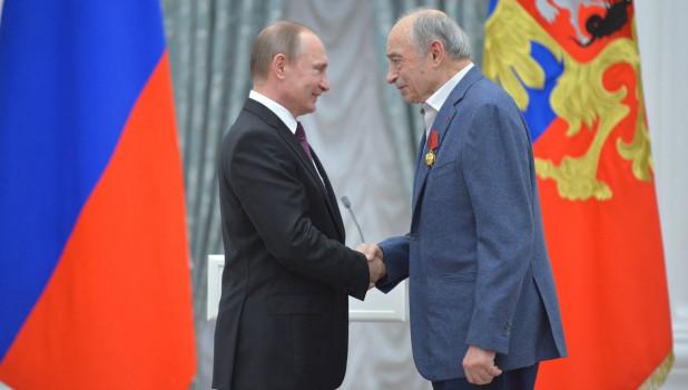Владимир Путин и Валентин Гафт.
