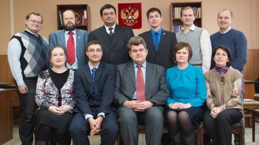 Кафедра ТГП, юридический факультет АлтГУ. В центре - Виталий Сорокин.