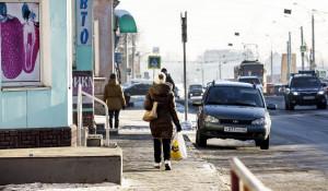 Ул. Советская Армия. Пешеход. Зима.