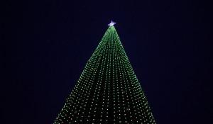 Новогодняя елка в Барнауле на площади Сахарова.