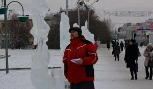 В Барнауле выбрали лучшую ледяную скульптуру.