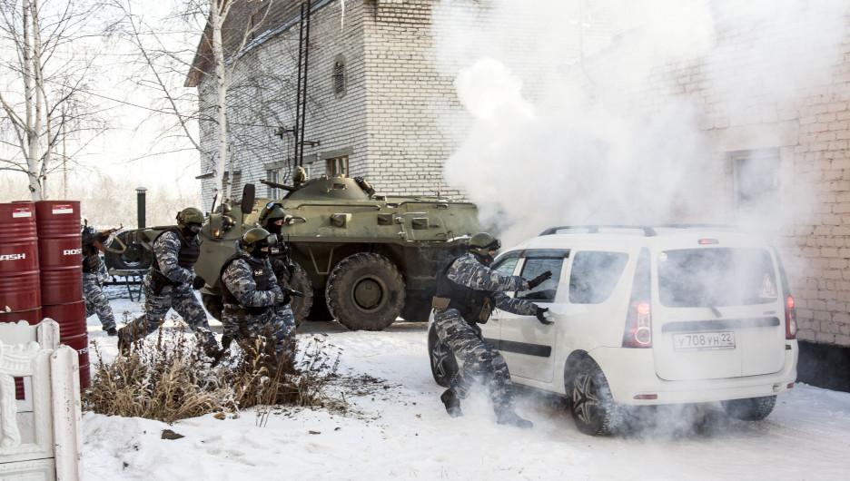 """Освобождение заложника, спецназ """"Легион"""" алтайского УФСИН."""