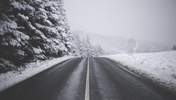 Дорога зимой.