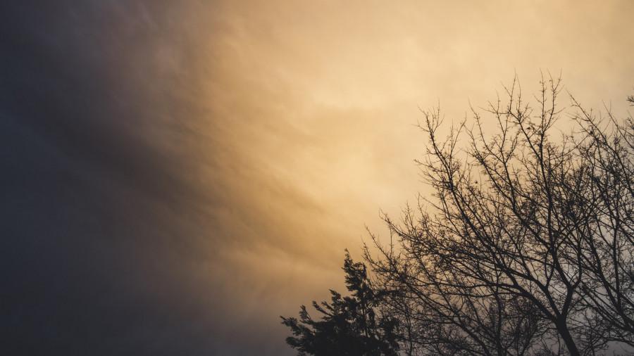 Небо. Зима.