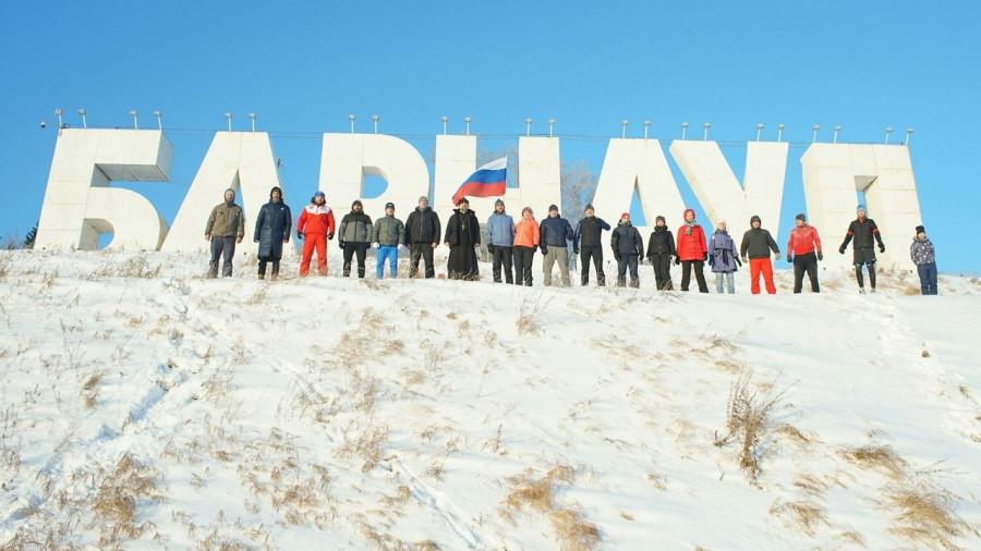 В Барнауле 1 января прошла трезвая пробежка.