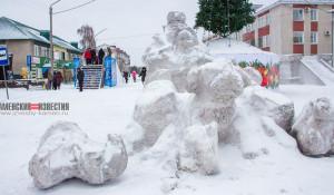 В Алтайском крае неизвестные обезглавили снежных псов.