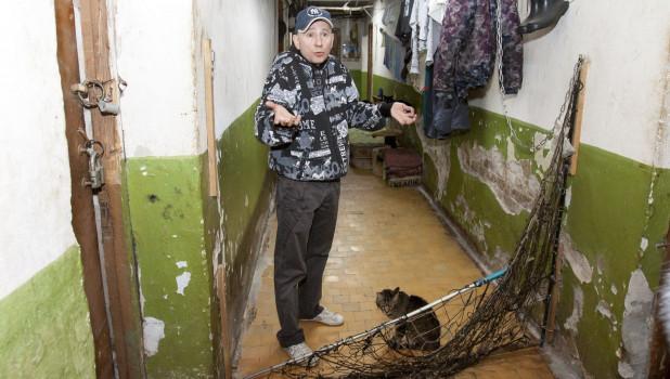 Олег Вершинин, житель подвала на улице Червонной.
