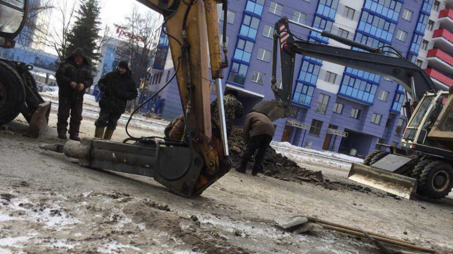 Коммунальная авария в Барнауле.