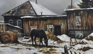 """""""Задний двор"""", 2015, холст, масло, 50х70 см."""