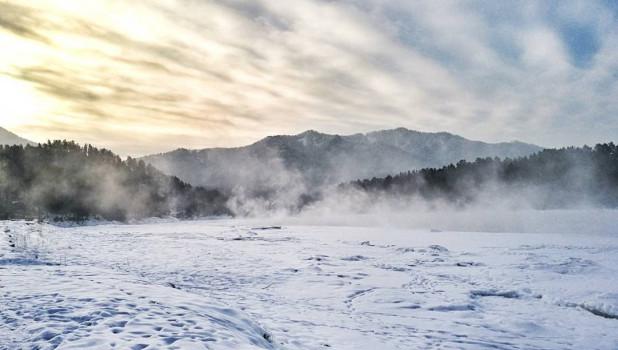 Январские морозы на Алтае.