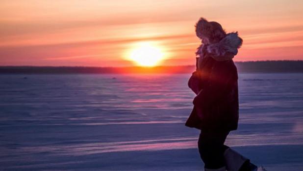 Январские морозы в Сибири.