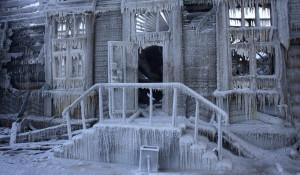 Последствия пожара в здании конторы купца Морозова. 22 января 2018.