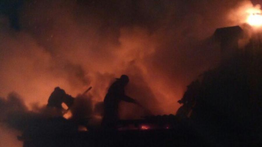 Пожар в частном доме.