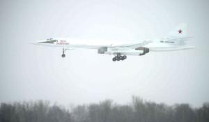 Демонстрационный полёт нового сверхзвукового стратегического бомбардировщика-ракетоносца «Ту-160М» «Петр Дейнекин».
