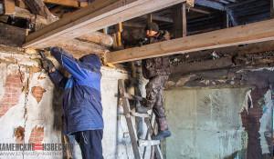 На Алтае восстанавливают дом многодетной семьи.