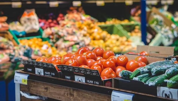 Магазин продуктов. Овощи.