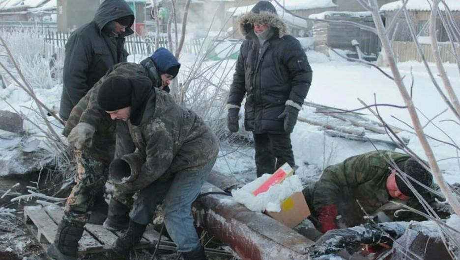 В селе Кусак из-за коммунальной аварии разморозилась теплотрасса.