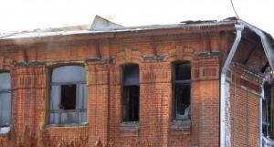 """""""Дом афганцев"""" после пожара."""
