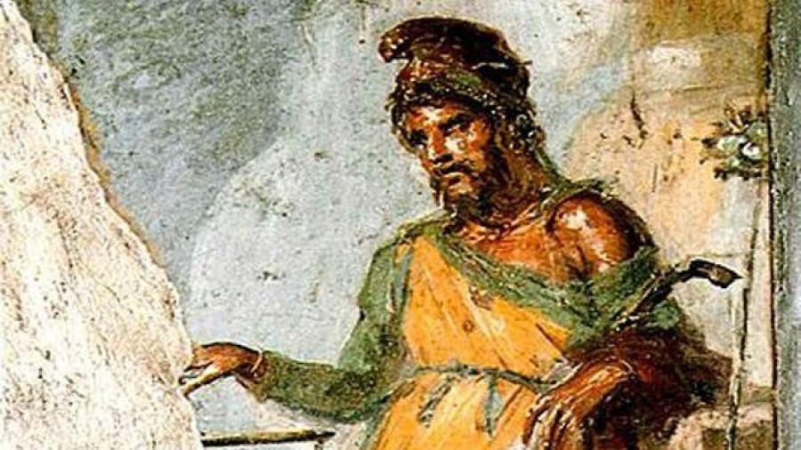Приап (приличный фрагмент древней фрески).