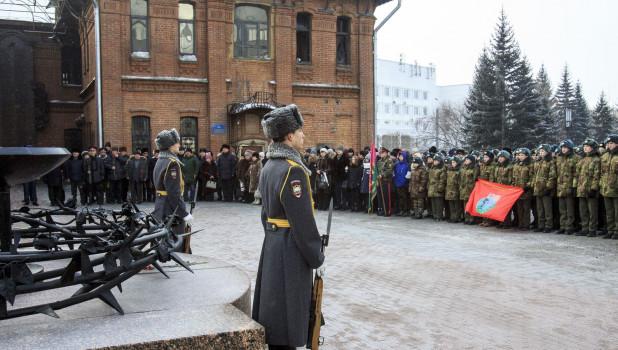 Митинг, посвященный 29-й годовщине вывода советских войск из Афганистана. Барнаул, 15 февраля 2018 года.